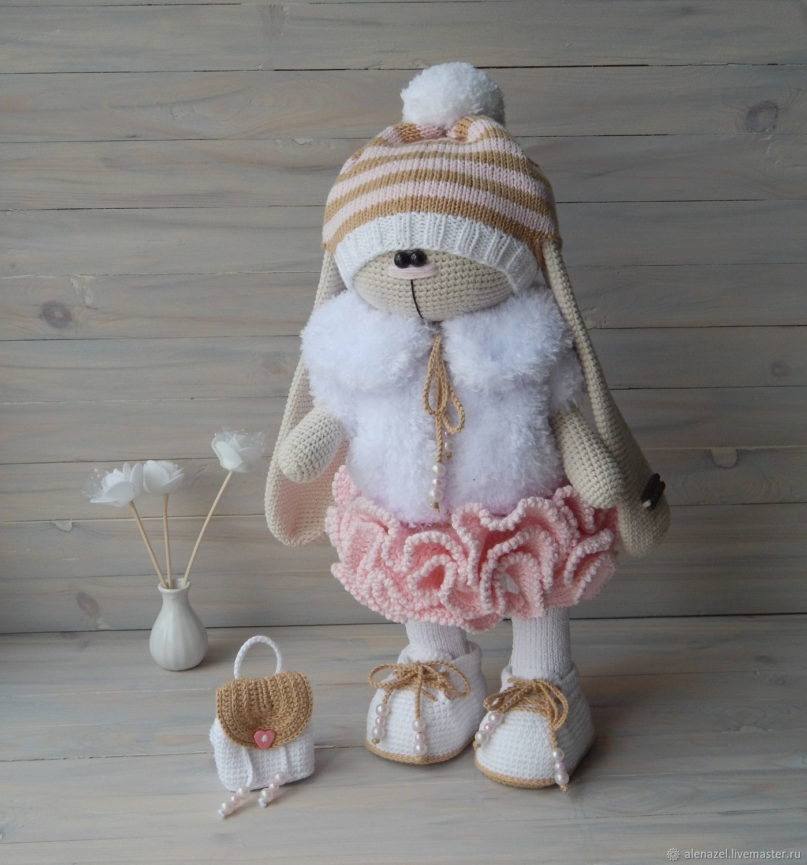 вязаный заяц тильда купить в интернет магазине на ярмарке мастеров