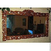 Для дома и интерьера ручной работы. Ярмарка Мастеров - ручная работа Резная рама для зеркала.. Handmade.