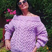 Свитеры ручной работы. Ярмарка Мастеров - ручная работа свитер с косами и аранами. Handmade.