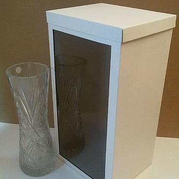 Souvenirs and gifts handmade. Livemaster - original item Caja de alta lateral de una ventana de mikrogofrokartona. Handmade.