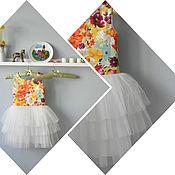 Работы для детей, ручной работы. Ярмарка Мастеров - ручная работа Платье пачка со ступенчатой юбкой 116. Handmade.
