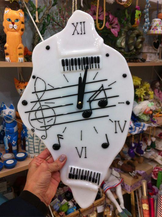 """Часы для дома ручной работы. Ярмарка Мастеров - ручная работа. Купить Часы """" 2а рояля""""  Фьюзинг. Handmade."""