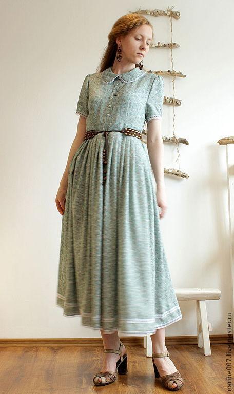 """Платья ручной работы. Ярмарка Мастеров - ручная работа. Купить Платье в стиле Mori girls """"Свежесть"""". Handmade. Мятный"""