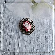 Субкультуры handmade. Livemaster - original item Brooch with cameo (rose). Handmade.