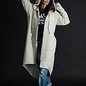 Одежда handmade. Livemaster - original item Knitted women`s vest with hood and pockets - VE0603CK. Handmade.