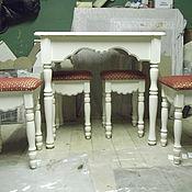 Для дома и интерьера ручной работы. Ярмарка Мастеров - ручная работа Кухонный стол с табуретами.. Handmade.