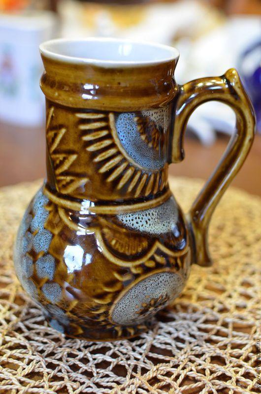 Винтажная посуда. Ярмарка Мастеров - ручная работа. Купить Кувшин керамический-майолика.внтаж 70-е.. Handmade. Комбинированный