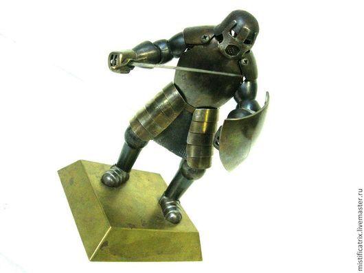 Подарки для мужчин, ручной работы. Ярмарка Мастеров - ручная работа. Купить Рыцарь в миниатюре. Handmade. Темно-серый, рыцарь, сталь