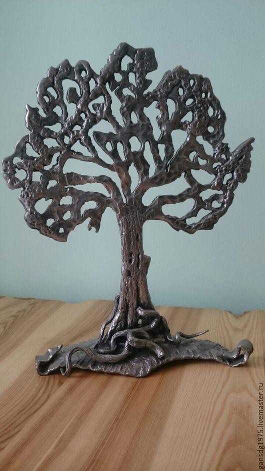 Элементы интерьера ручной работы. Ярмарка Мастеров - ручная работа. Купить кованное дерево. Handmade. Серый, металл