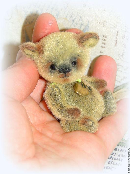 Мишки Тедди ручной работы. Ярмарка Мастеров - ручная работа. Купить mr.Apple (мини мишка тедди). Handmade.