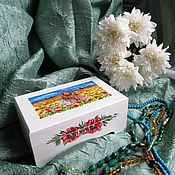 """Для дома и интерьера ручной работы. Ярмарка Мастеров - ручная работа Шкатулка """"Маков цвет"""". Handmade."""