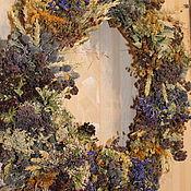Цветы и флористика handmade. Livemaster - original item A wreath of dried flowers. herbs berries 52 cm.. Handmade.