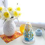 Свечи ручной работы. Ярмарка Мастеров - ручная работа Резная свеча - желтый солнечный - свеча резная Позитив. Handmade.