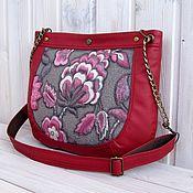 Сумки и аксессуары handmade. Livemaster - original item Crossbody bag: So what are you, a scarlet flower. Handmade.