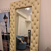 Для дома и интерьера ручной работы. Ярмарка Мастеров - ручная работа Зеркало в каретной стяжке на заказ. Handmade.