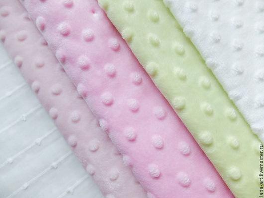 Шитье ручной работы. Ярмарка Мастеров - ручная работа. Купить Лоскуты плюша Minky Dot (размеры и цена в описании). Handmade.