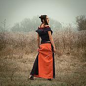 Одежда ручной работы. Ярмарка Мастеров - ручная работа Юбка льняная Arabesco M. Handmade.