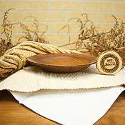 handmade. Livemaster - original item Flat wooden plate (19 cm) made of Siberian Cedar T79. Handmade.