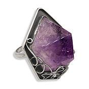 "Украшения handmade. Livemaster - original item Ring ""Amethyst crystal"" of silver 925. Handmade."