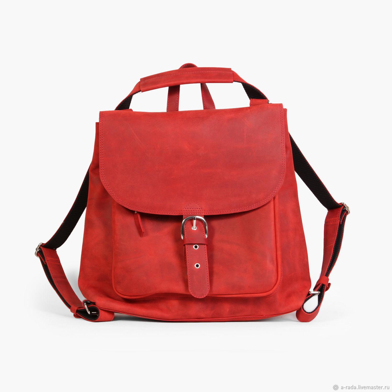 Сумка рюкзак трансформер красного цвета Бенжамин, Рюкзаки, Москва,  Фото №1