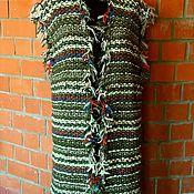 Одежда ручной работы. Ярмарка Мастеров - ручная работа Жилет вязанный спицами. Handmade.