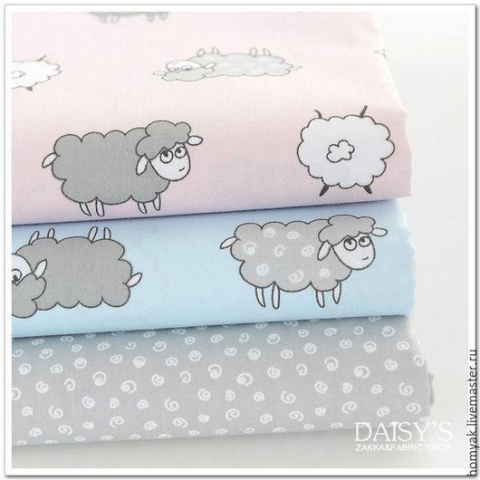 Шитье ручной работы. Ярмарка Мастеров - ручная работа. Купить №6. Ткань хлопок детская компаньоны овечка. Handmade. Комбинированный