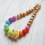 Одежда handmade. Livemaster - original item Juniper breastfeeding necklace Nursing necklace Rainbow. Handmade.