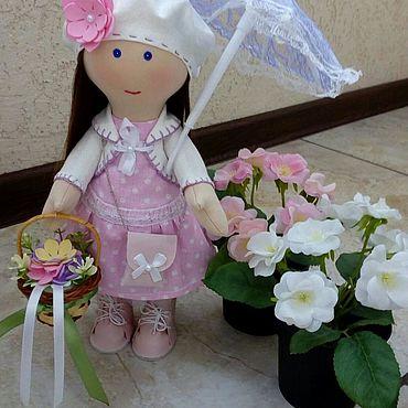Куклы и игрушки ручной работы. Ярмарка Мастеров - ручная работа Тильды: Девочка цветочница. Handmade.
