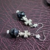 Украшения handmade. Livemaster - original item Agate earrings