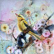 Картины и панно ручной работы. Ярмарка Мастеров - ручная работа Акварель Золотая Птица. Handmade.
