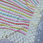 Для дома и интерьера handmade. Livemaster - original item Children`s blanket knitted, summer blanket knitted, flowers, newborn. Handmade.