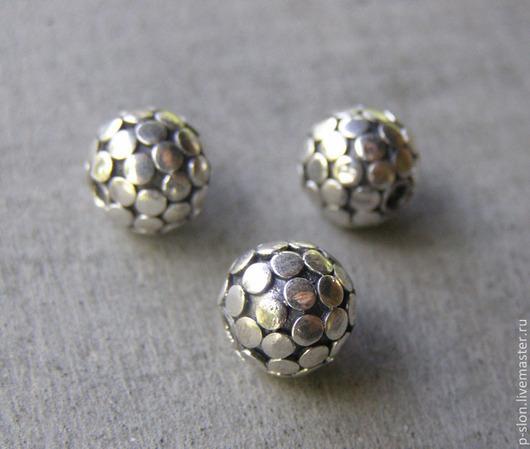 Для украшений ручной работы. Ярмарка Мастеров - ручная работа. Купить Бусина из серебра 925 пробы, Бали СБ3. Handmade.