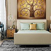 Картины и панно ручной работы. Ярмарка Мастеров - ручная работа Картина Дерево счастья в раме золотой коричневый. Handmade.