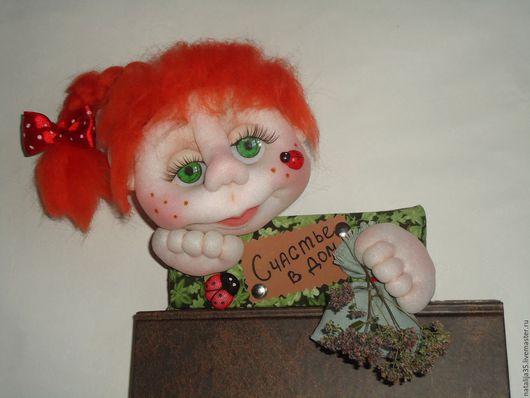 Прихожая ручной работы. Ярмарка Мастеров - ручная работа. Купить Кукла-оберег на входную дверь. Handmade. Комбинированный, текстильная кукла