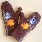 Аксессуары handmade. Livemaster - original item Felted mittens