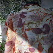 Аксессуары ручной работы. Ярмарка Мастеров - ручная работа Палантин шаль шерсть эко принт. Handmade.