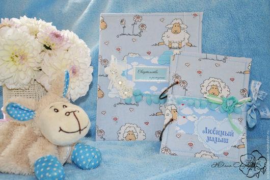 """Подарки для новорожденных, ручной работы. Ярмарка Мастеров - ручная работа. Купить Папка для документов и блокнот """"Мамины заметки"""". Handmade."""