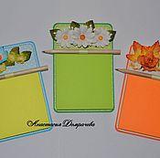 Подарки к праздникам ручной работы. Ярмарка Мастеров - ручная работа Блокнот-магнит на холодильник. Handmade.