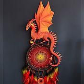 """Ловец снов """"Хранитель Пылающего Мира"""" fire dragon. огненный дракон"""
