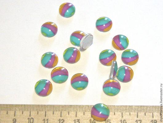 Для украшений ручной работы. Ярмарка Мастеров - ручная работа. Купить Кабошоны стеклянные 12мм ( наклейки круглые ). Handmade.