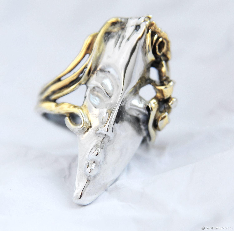 'Blonde'-silver ring, Rings, Kurgan,  Фото №1