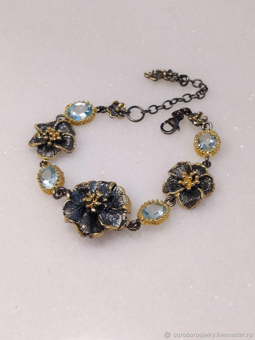 Silver bracelet with Topaz, Bead bracelet, Novosibirsk,  Фото №1