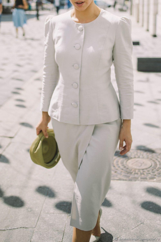 Юбка из невесомого льна, Костюмы, Москва,  Фото №1