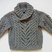 Работы для детей, ручной работы. Ярмарка Мастеров - ручная работа Вязаный пуловер для мальчика.. Handmade.