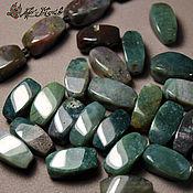 Материалы для творчества handmade. Livemaster - original item Ocean Jasper (chalcedony), twisted beads 16h9h9 mm. Handmade.