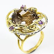 Украшения handmade. Livemaster - original item Gold plated ring