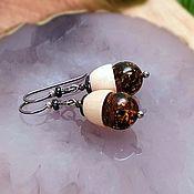handmade. Livemaster - original item Amber. Earrings