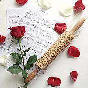 Посуда handmade. Livemaster - original item SHEET MUSIC - Embossing rolling pin, laser engraved rolling pin. Handmade.