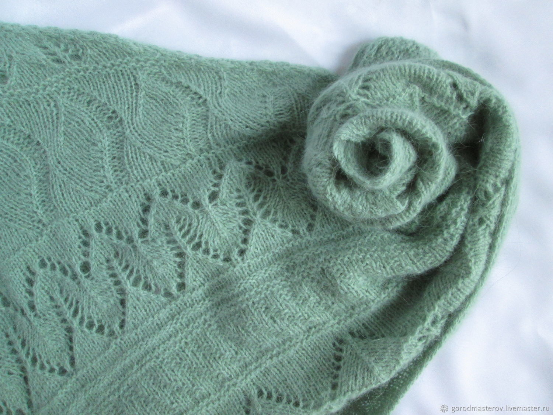 Scarf scarf Bacchus mini shawl mint green, Scarves, Moscow,  Фото №1