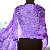 Аксессуары handmade. Livemaster - original item Scarf silk lilac female long thin, buy scarf. Handmade.